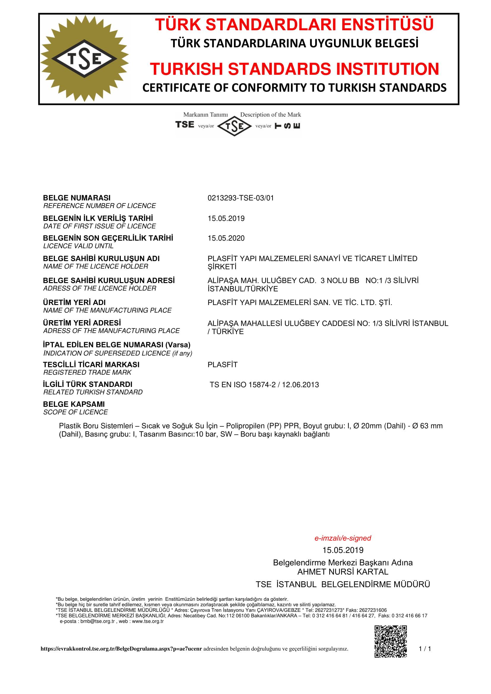 TS EN ISO 15874-2 TSE BELGE-1